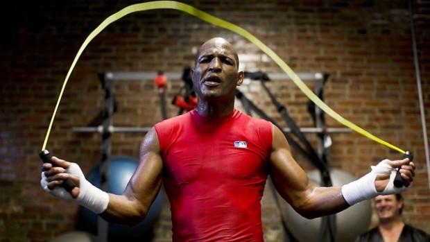 bernard hopkins allenamento con la corda
