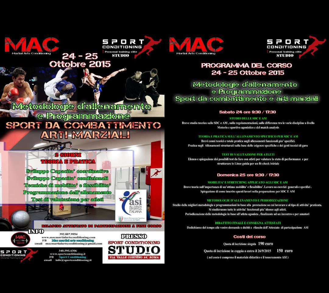 Corso teorico-pratico sugli sport da combattimento