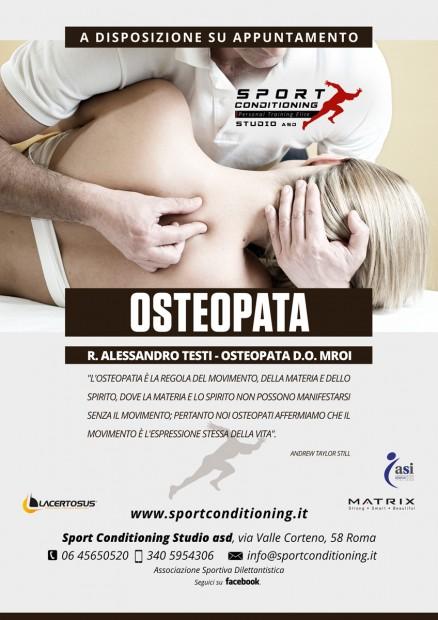 poster osteopatia e sport