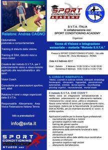 corso di visione e integrazione sensorial SVTA