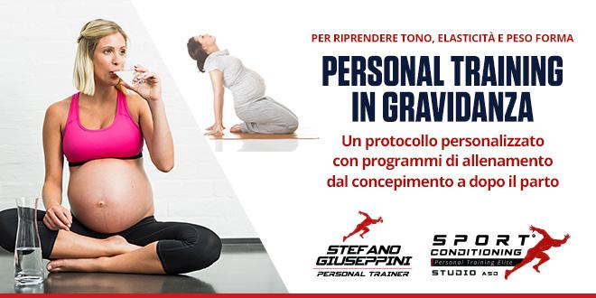 Esercizio fisico in gravidanza col personal trainer