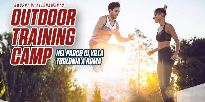 Gruppi di allenamento nel parco di villa Torlonia a Roma – Sport Conditioning Outdoor Training Camp