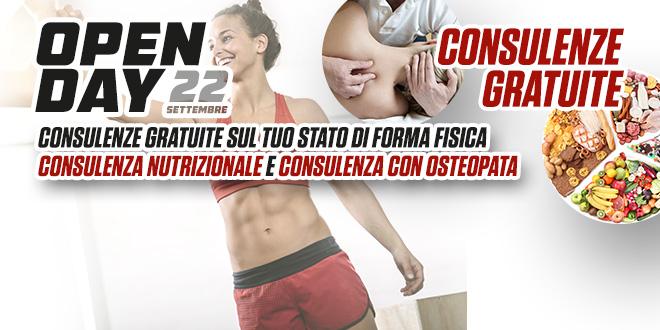 Open Day: consulenze gratuite sul tuo stato di forma fisica, nutrizionali e con osteopata