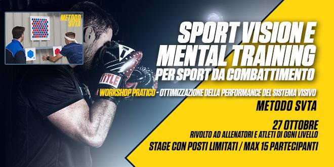 Workshop Sport Vision e Mental training per Sport da Combattimento