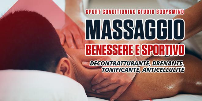 Massaggio benessere e sportivo