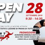 Open Day, Sabato 28 Settembre 2019: lezioni di prova gratuite di tutti i corsi e iscrizione annuale in regalo per i nuovi iscritti partecipanti