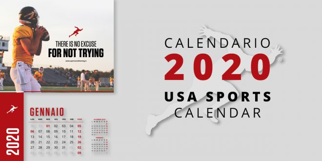 USA Sports Calendar by Sport Conditioning Studio