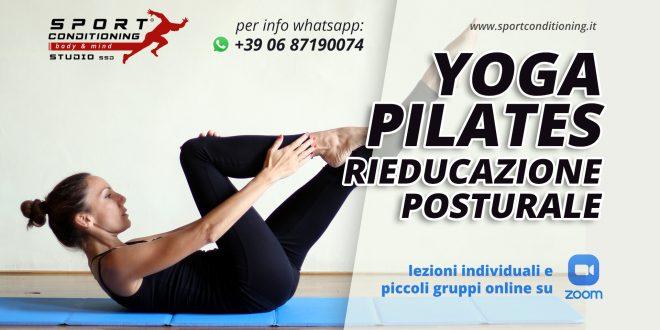Lezioni individuali e piccoli gruppi online di yoga, pilates e rieducazione posturale